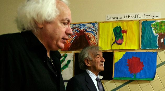 I Quit: Leon Wieseltier, literary editor of The New Republic, walks with Elie Wiesel.