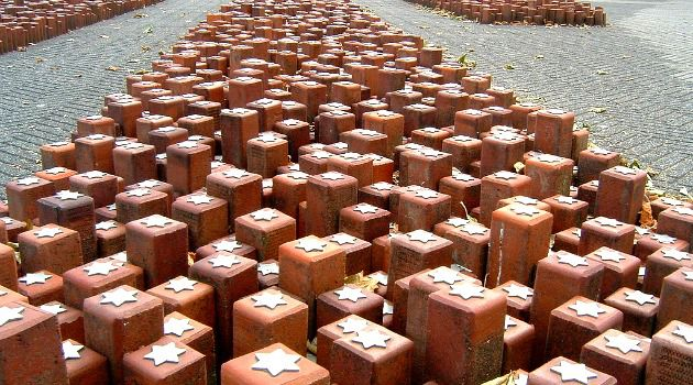 Monument at Westerbork: Each individual stone represents a single person that had stayed at Westerbork and died in a Nazi concentration camp.
