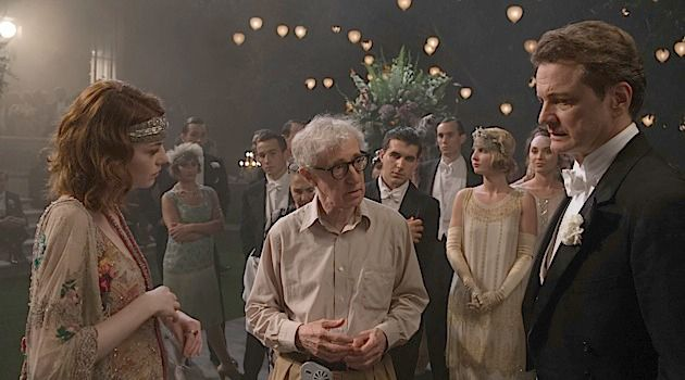 Twilight's Last Gleaming: Woody Allen directs a scene from 'Magic in the Moonlight.'