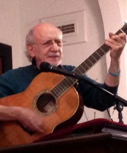 "Serenade: Legendary folk singer Peter Yarrow sings ""Blowin' In the Wind"" to participants at a Selma gathering."