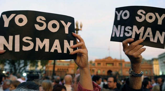 Rally point:Following the killing of argentine public prosecutor Alberto Nisman on January 18, protesters took the streets with signs reading, 'I am Nisman.'