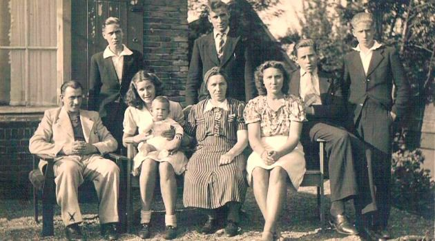 Zanoli Family : Henk Zanoli is second from right in this 1942 photo.