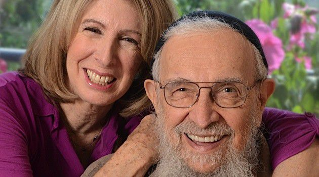 Reb's Voice Stilled: Rabbi Zalman Schachter-Shalomi poses with journalist Sara Davidson.