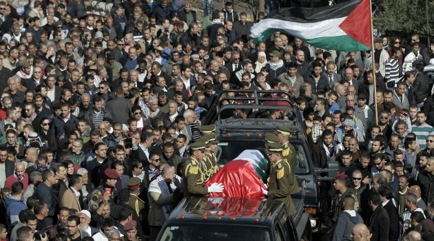 What Killed Him? Crowds pack the streets of Ramallah for funeral of Ziad Abu Ein, a Palestinian minister who died after a confrontation with Israeli troops on the occupied West Bank.