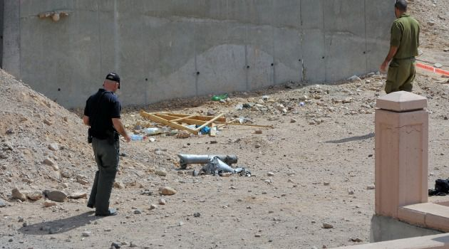 Rockets Strike: Israeli police investigate aftermath of rocket attack in resort town of Eilat.