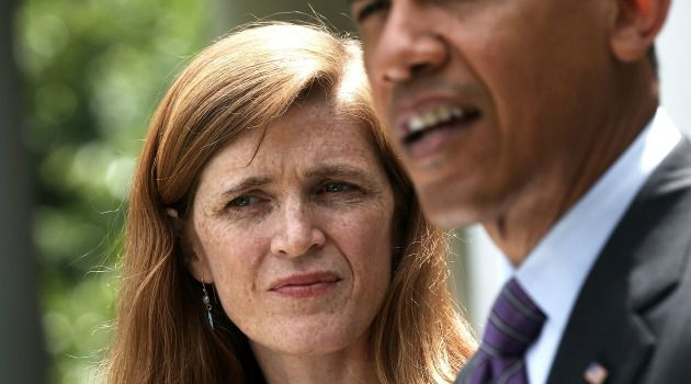 Power Play: Samantha Power, shown here with President Obama, leaves little to chance, especially when it comes to shoring up support around Israel.