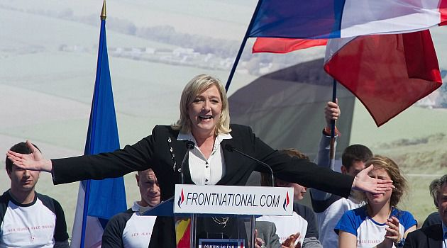 Far Right Earthquake: Marine Le Pen celebrates win in French elections for European parliament. Nationalists scored big gains across Europe.