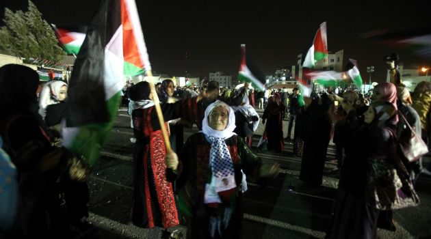 Free at Last: Relatives of freed Palestinian prisoners gathered in October to welcome them home in the West Bank. Another round of prisoners is expected to be freed Tuesday morning.