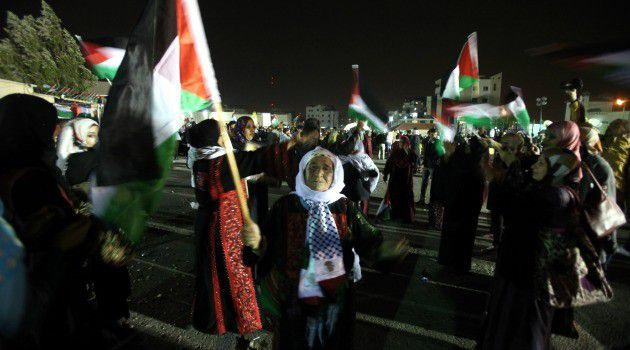 Relatives of freed Palestinian prisoners gathered to welcome them home in the West Bank.