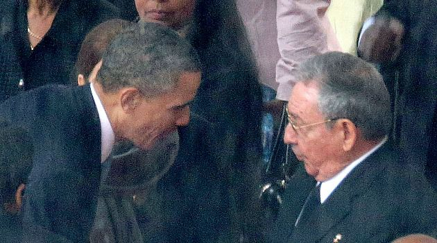Now What? President Obama shook hands with Cuban leader Raul Castro at the memorial for Nelson Mandela in December. But there has been little sign of a policy shift that could lead to freedom for jailed American Alan Gross.