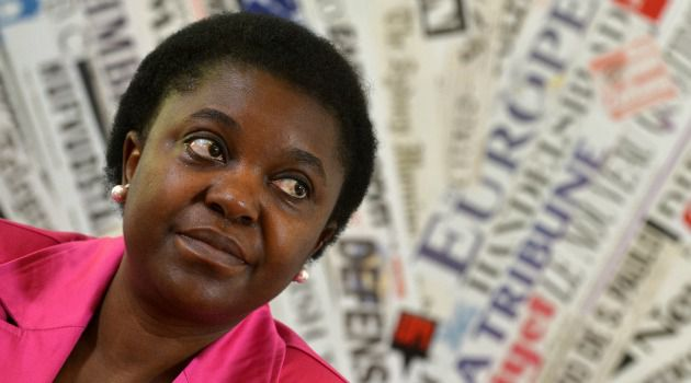 Trailblazer:Cecile Kyenge, the first black Italian government minister, has won support from Jews after being subjected to racist abuse.