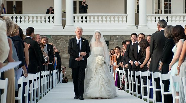 Good Thing? Chelsea Clinton walks down the aisle with her father, Bill Clinton, at her wedding to Marc Mezvinsky.