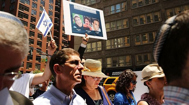 Rally for Teens: Americans rally outside the Israeli consulate to show support for the effort to bring back the kidnapped teenage boys.