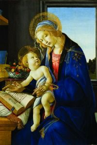 "Sandro Botticelli. ""Madonna and Child."" 1480–81. Museo Poldi Pezzoli, Milan."