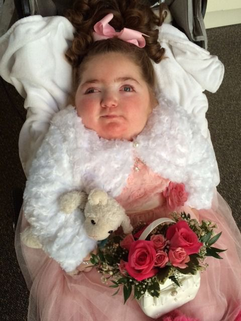 Krystie Karl-Steiger dressed for her parents' wedding.