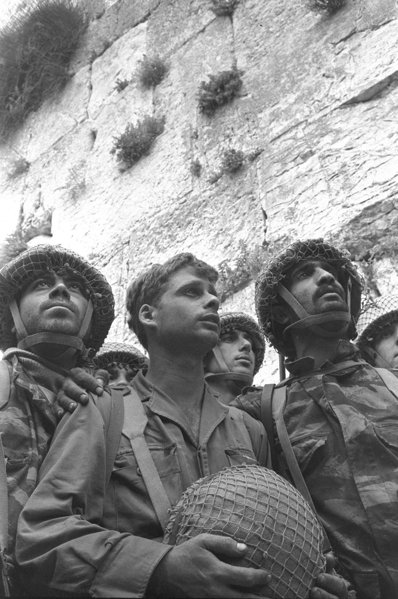 David Rubinger's famous photograph of soldiers at the Western Wall in 1967.