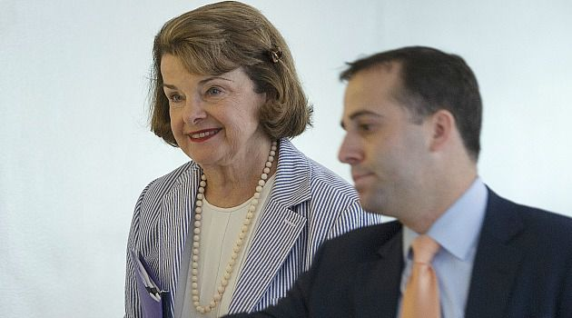All-Out Push: Sen. Diane Feinstein (D-Calif.) arrives for a briefing on Syria. AIPAC plans a major push to convince Congress to back President Obama?s request to authorize use of force.
