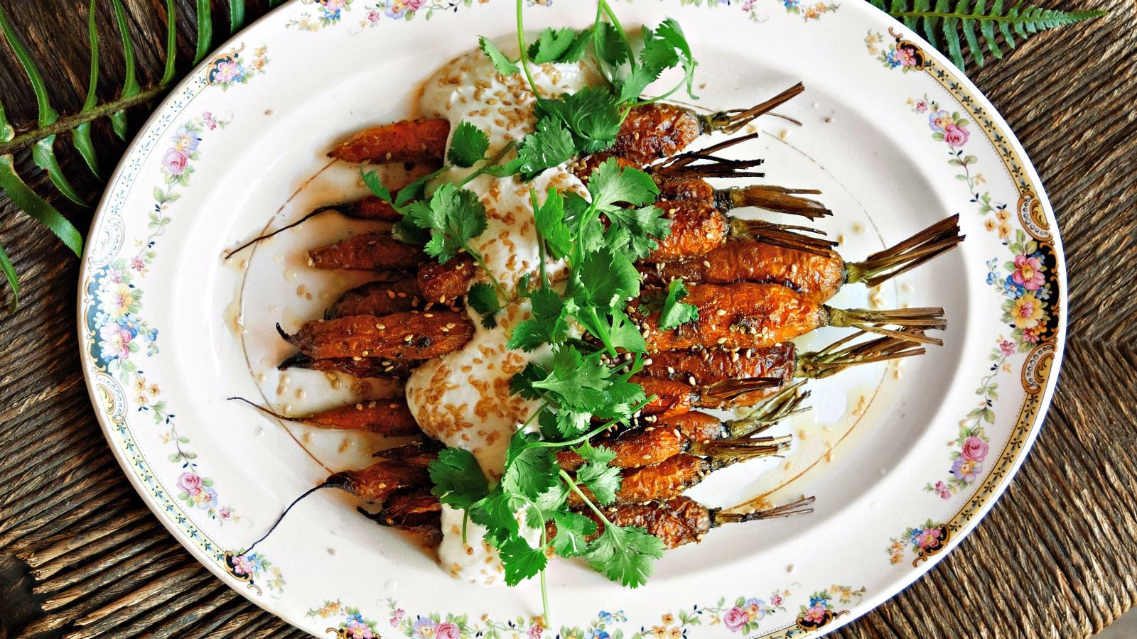 Roasted carrots with za'atar topped with Greek yogurt, cilantro and sesame seeds was a favorite of our taste testers.