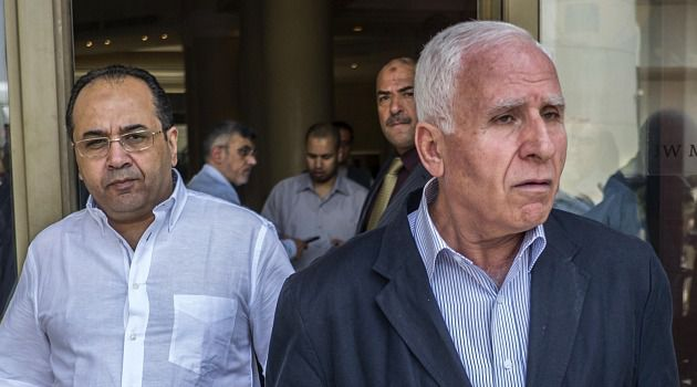 Palestinian negotiators arrive in Cairo for peace talks over Gaza.