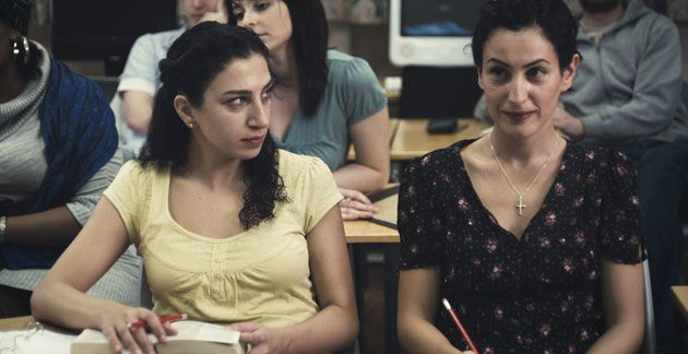 ?Lipstikka?: Jonathan Sagall?s new film explores memory and people?s competing claims on the past. Clara Khoury (left) and Nataly Attiya (right) portray two Palestinian woman, reunited in London.