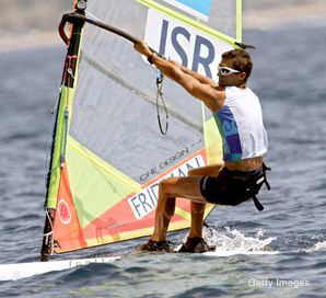 Upbeat: Olympic gold medalist Gal Fridman will not represent Israel in Beijing this summer
