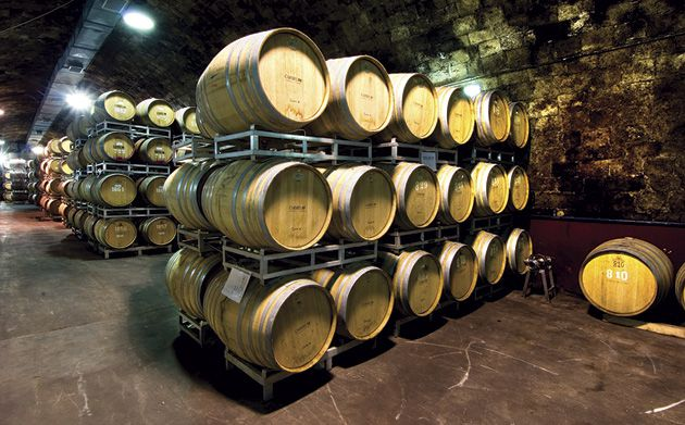 Barrels of Wine: The cellar storage at the Carmel Winery in Zichron Yaakov.
