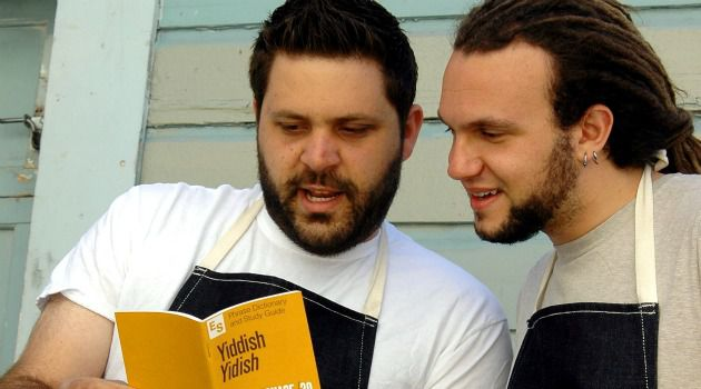 Wise Sons: Evan Bloom (left) and Leo Beckerman serve up nouveau deli in San Francisco.