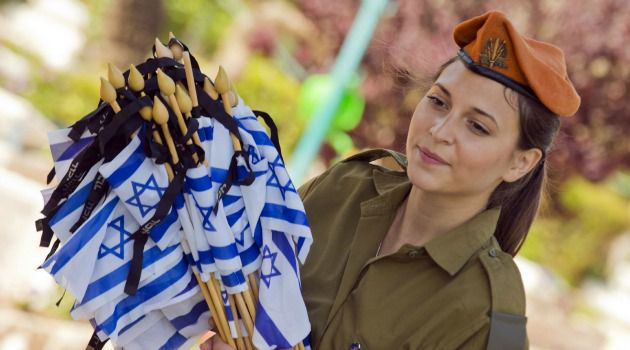 Israeli soldier prepares to mark Hazikaron, the country?s memorial day.
