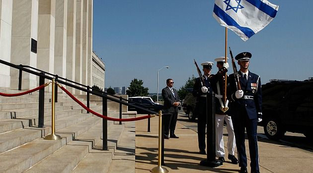 Upping the Ante: The U.S. provides a river of aid to Israel, as reflected by the honor guard welcomed at the Pentagon. Israel is pushing for an even larger package of future assistance.