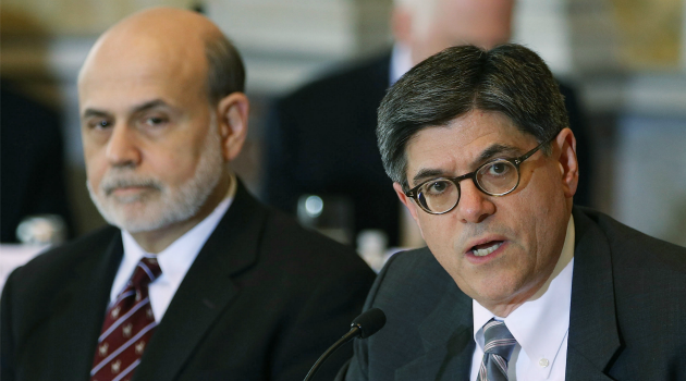 Blame the Beltway: Treasury Secretary Jack Lew is blaming Congressinoal gridlock for stunting the economy.