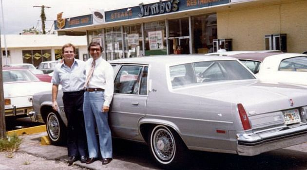 They Did Right Thing: The Jewish owners of Jumbo's pose outside the soul food spot in North Miami during its heyday.