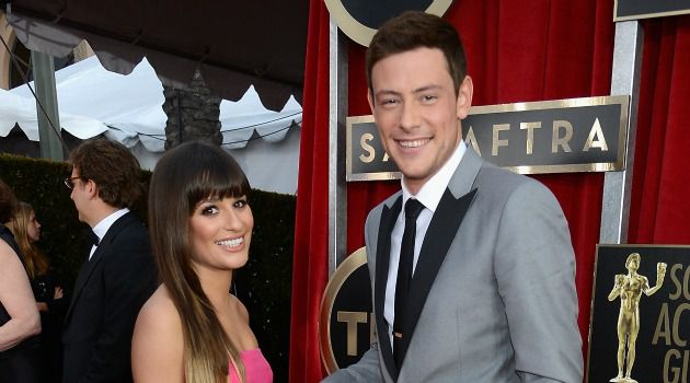 Better Days: Lea Michele and Cory Monteith dated on and off the small screen.