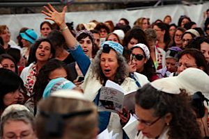 Rosh Chodesh services held by Women of the Wall included an emotional reading of Hallel, a collection of psalms.