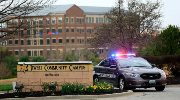 Deadly Scene: The JCC in Overland Park, Kan. was packed with teenagers participating in a talent contest when a gunman opened fire.