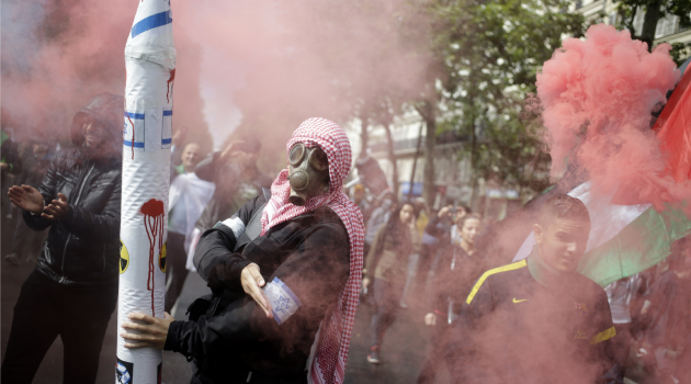Violent Streets: Pro-Palestinian demonstrations in Paris have descended into violence.