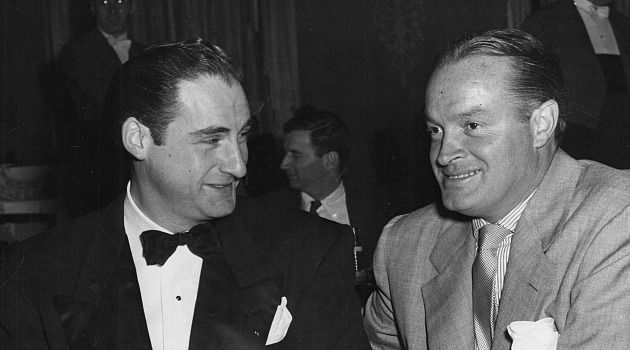Sid and Bob: Sid Caesar shares a joke with Bob Hope in 1960.
