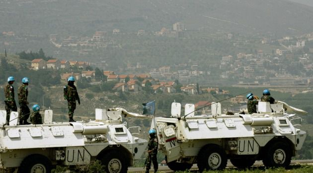 Watchful Eye: United Nations peacekeepers keep wary eye on Israel-Lebanon border.