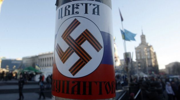 Dueling Claims: Ukrainians are accusing Russia of occupying the country like the Nazis once did. But Vladimir Putin claims neo-Nazis are behind the Kiev uprising.