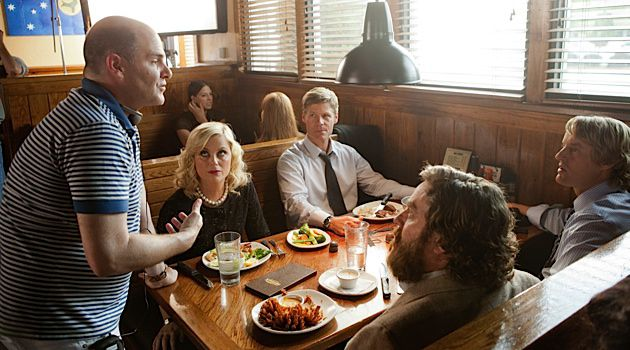 What About Don: Matthew Weiner, the creator of 'Mad Men,' directs a scene from his film 'Are You Here.'