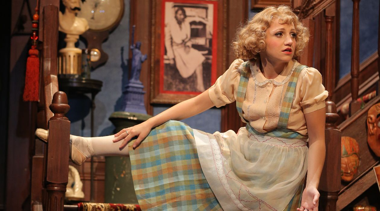 "Genius Physical Comedian: Annaleigh Ashford plays the dim-witted Essie in ""You Can't Take It With You,"" currently on stage at Broadway's Longacre Theatre"