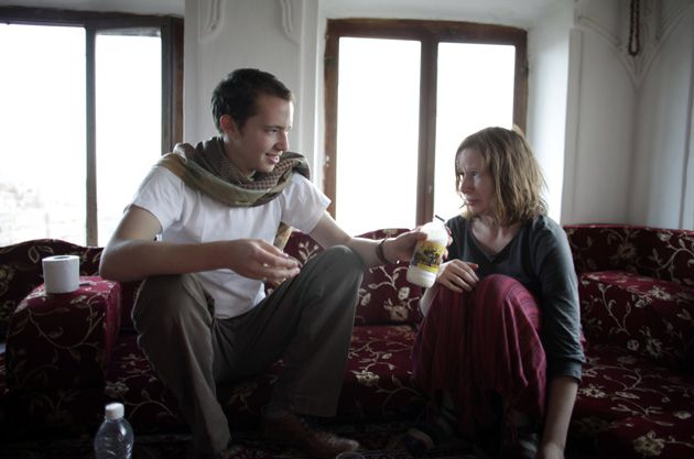 Camel?s Milk: Josh Berer, 24, invites Rachael Strecher, 23, to take a taste of a Yemeni delicacy.