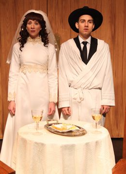Wedding Jitters: Julie Tepperman and Aaron Willis play a newly married couple in ?Yichud.?