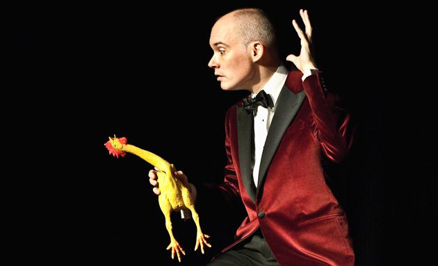 Did You Hear the One About The Rubber Chicken?: Shane Baker and friend in ?The Big Bupkis.?
