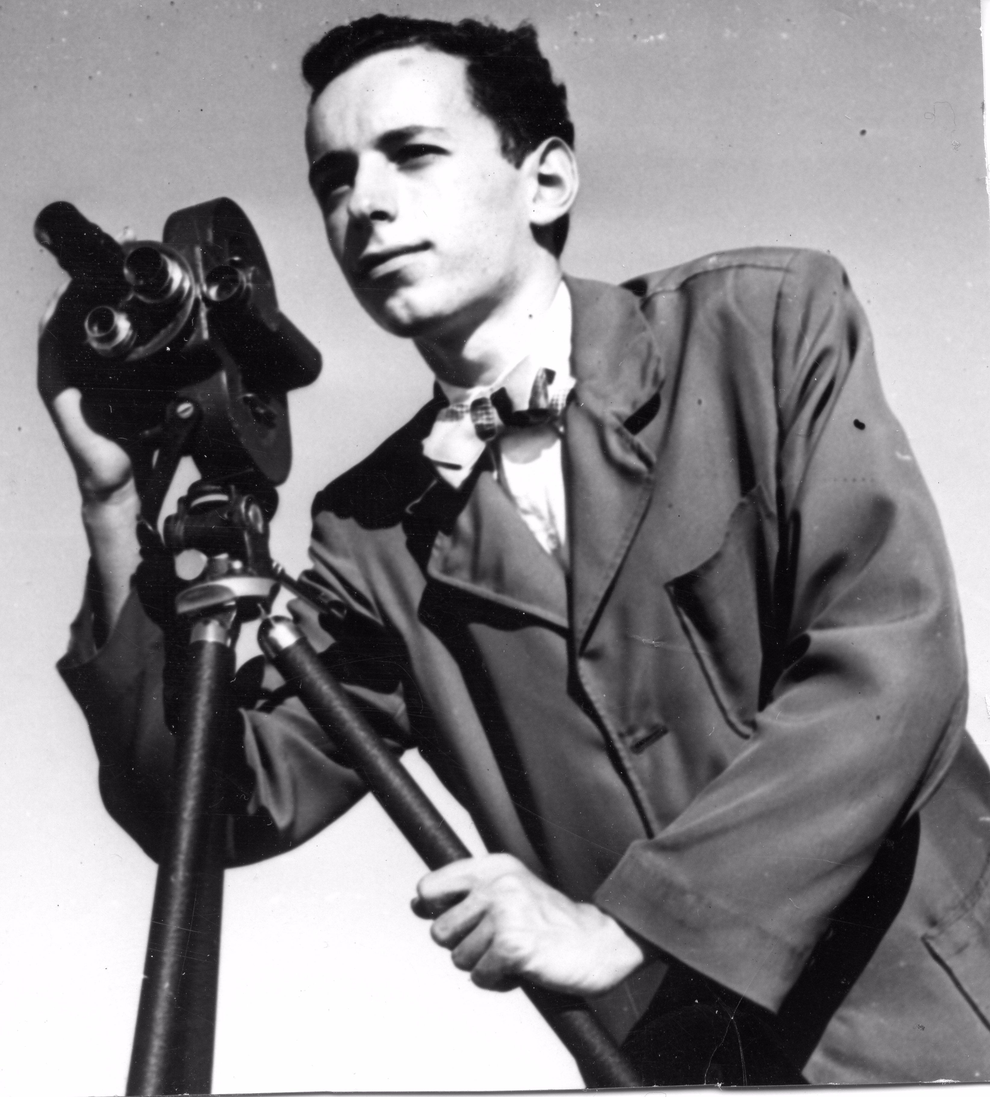 Portrait of the Author's Subject as a Young Man: Steven Faludi trains the sights of his camera.