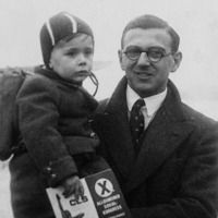 Nicholas Winton with rescued child