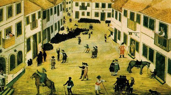 Perspective in Watercolor: Zacharaias Wagenaer's 'Slave Market in Recife, Brazil.'