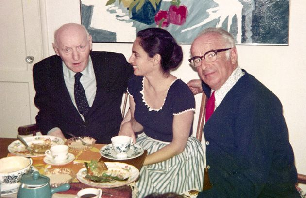 Breaking Bread: After chatting about the book at a conference, Marvin Zuckerman (not pictured) invited I.B. Singer, left, to lunch with Zuckerman?s wife, center, and father-in-law at his Los Angeles home (c. 1974).