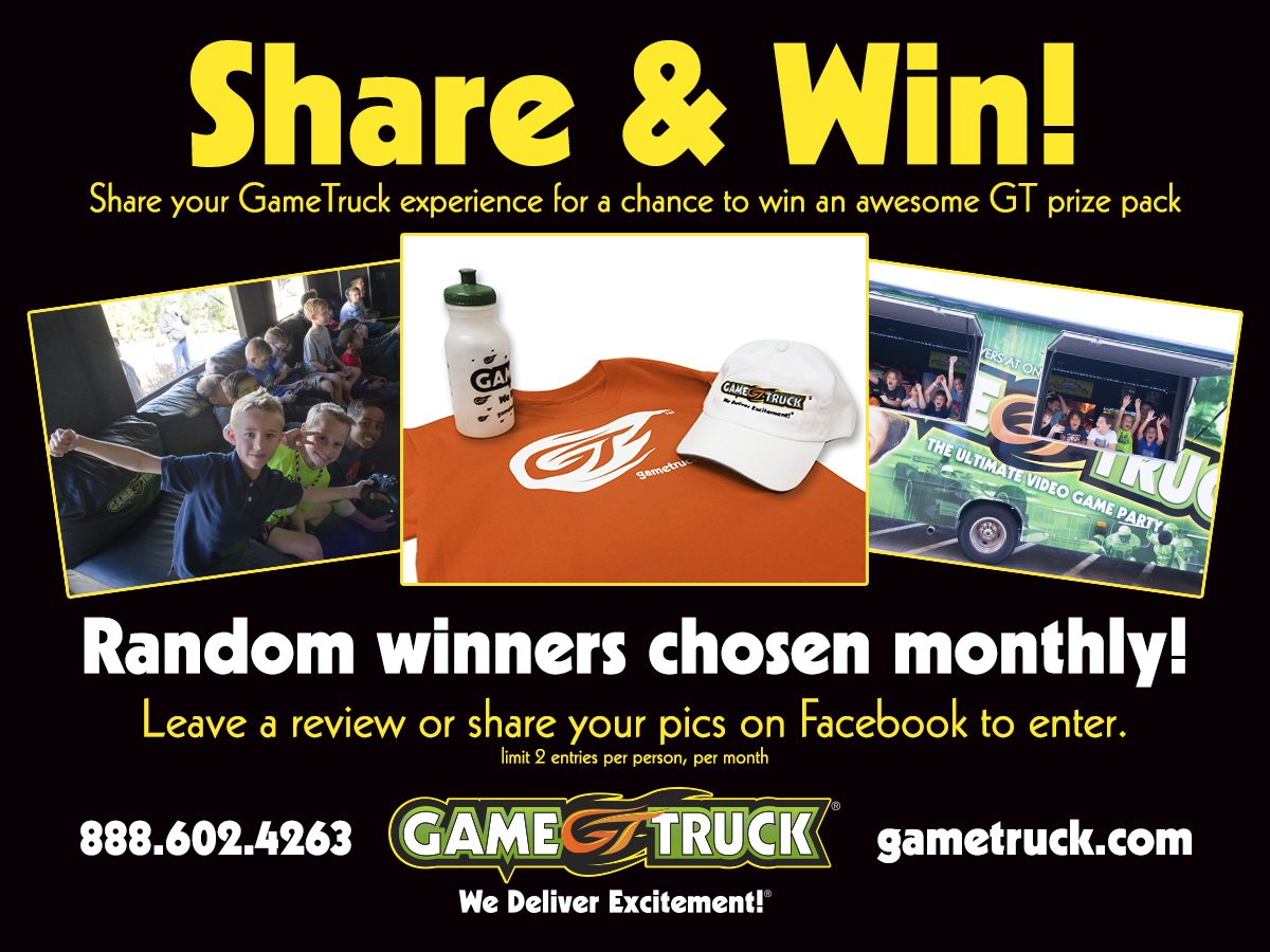 Our First Three Share Your GameTruck Story Winners