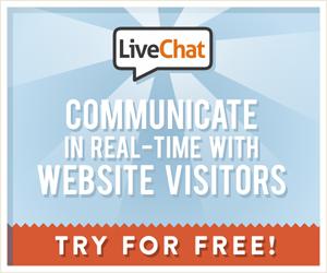 LiveChat advertisement