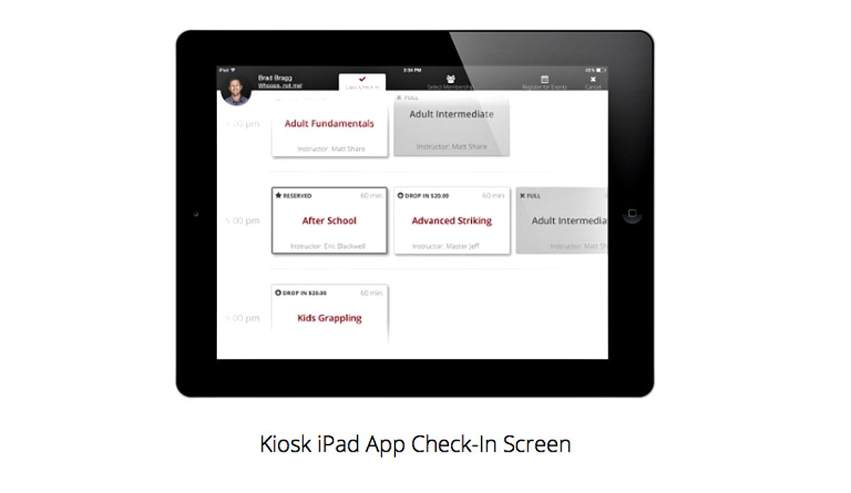 iPad App Check-In Screen